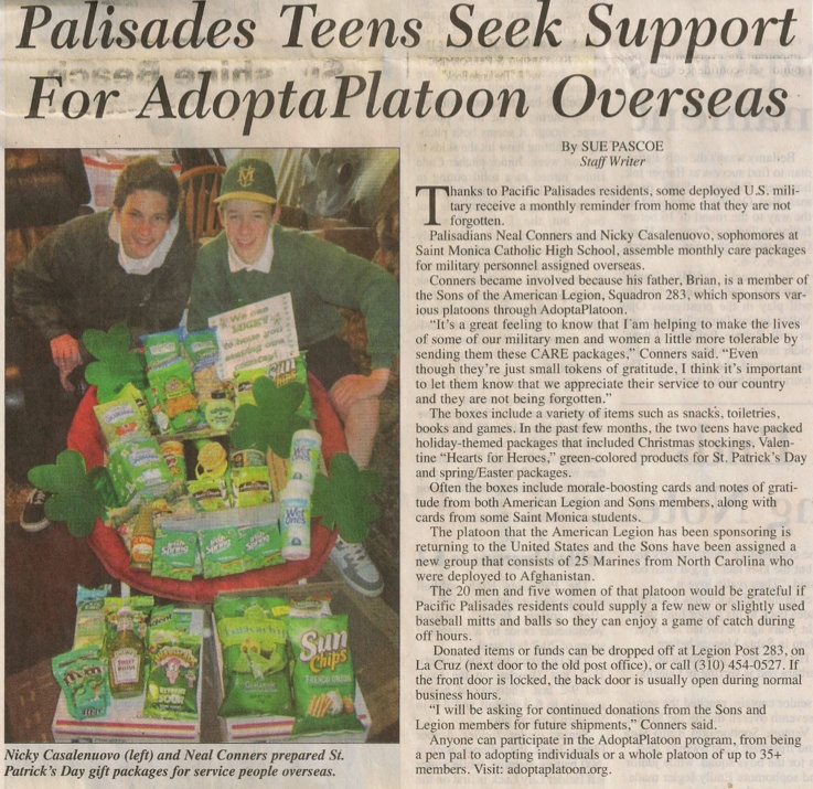 Palisades Post Article - March 2013
