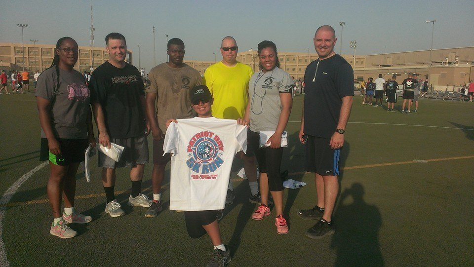 Adopted Platoon After Patriot Day Run