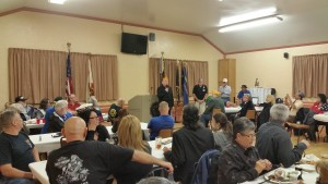 National SAL Commander Kevin Collier speaking to the dinner crowd at Post 136 in Arroyo Grande